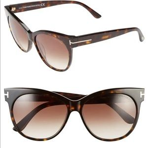 Tom Ford Saskia 57 mm sunglasses in tortoise